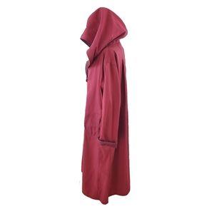 Nordstrom Reversible Hooded Red Rain Cloak L